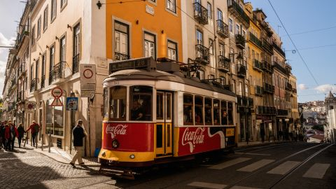 <strong>Lisbon:</strong> In operation for close to 150 years, Lisbon's network of yellow and white trams is one of the Portuguese capital's most recognizable sights.