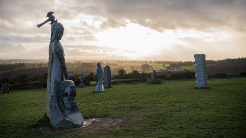 <strong>Carnoët, France:</strong> In Brittany's Valley of the Saints, dozens of granite statues of Breton saints dot the landscape, with more being added each year.