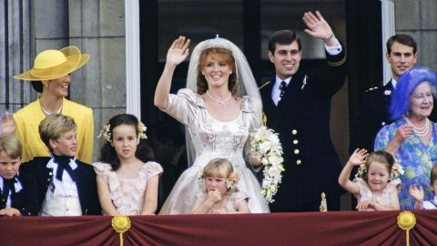 """In July 1986, Prince Andrew married Sarah Ferguson. <a href=""""https://www.cnn.com/2019/11/16/uk/prince-andrew-queen-jeffrey-epstein-scli-intl-gbr/index.html"""" target=""""_blank"""">They were the ultimate """"It"""" couple</a> of the late 1980s. Their wedding drew a TV audience of hundreds of millions."""