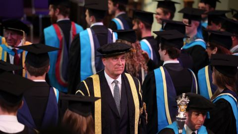 The prince was installed as chancellor of the University of Huddersfield in 2015.