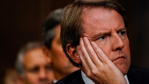 White House counsel Donald McGahn at a Senate Judiciary Committee hearing on Thursday, September 27, 2018 on Capitol Hill.