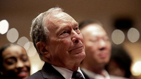 NEW YORK, NY - NOVEMBER 17: Michael Bloomberg prepares to speak at the Christian Cultural Center on November 17, 2019 in the Brooklyn borough of New York City. Reports indicate Bloomberg, the former New York mayor, is considering entering the crowded Democratic presidential primary race. (Photo by Yana Paskova/Getty Images)