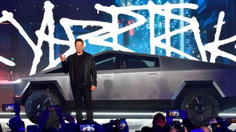 Elon Musk reveals the Cybertruck.