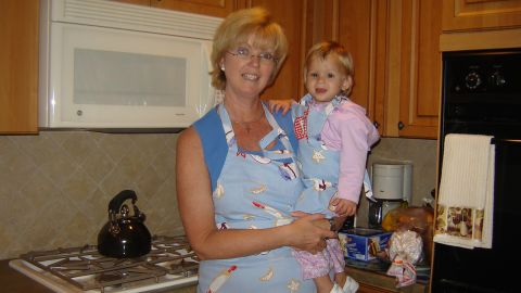 Eileen McDonnell with her daughter, Claire, soon after adopting her from Russia in 2006.