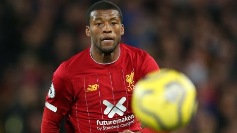LIVERPOOL, ENGLAND - OCTOBER 27:  Georginio Wijnaldum of Liverpool chases the ball during the Premier League match between Liverpool FC and Tottenham Hotspur at Anfield on October 27, 2019 in Liverpool, United Kingdom. (Photo by Alex Livesey/Getty Images)