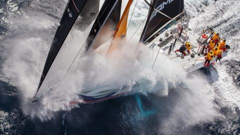 <strong>Sharon Green. </strong>A Volvo 70 Wizard is captured about 25 miles off Miami during the 811-nautical mile Pineapple Cup race from Miami to Jamaica.