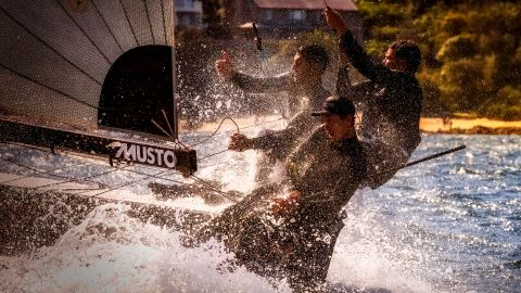<strong> 18. Michael Chittenden. </strong>The wet and wild feeling of sailing a 16ft skiff on a breezy day in Sydney Harbor.