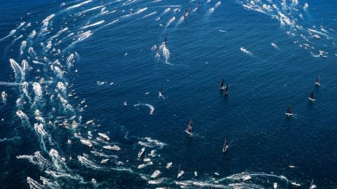 <strong> 19. Craig Greenhill. </strong>The spectator fleet chasing the lead superyachts including Commanche and Wild Oats XI out of Sydney Heads after the Boxing Day start of the famous Sydney-Hobart race.