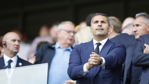 Khaldoon Al Mubarak, chairman of City Football Group, takes in a match.