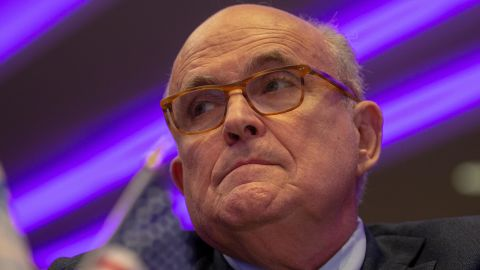 Rudy Giuliani is seen in May 2018 in Washington, DC.