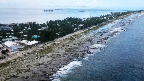 Islands like Tuvalu are particularly badly affected by climate-fuelled internal displacement.