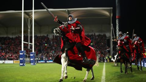 The Crusaders pre-match entertainment involved performances from knights on horses was canceled following the Christchurch attack.