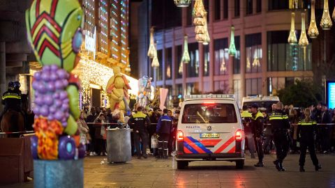 Police say multiple people were wounded as crowds of shoppers packed the stores on Grote Marktstraat.