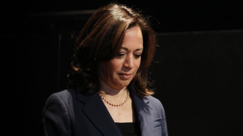 Democratic presidential candidate Sen. Kamala Harris (D-CA) waits to speak at a Democratic presidential forum on Latino issues at Cal State L.A. on November 17, 2019 in Los Angeles, California.
