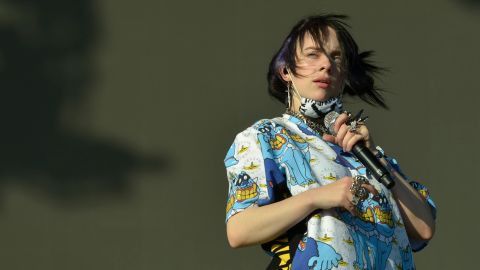 Billie Eilish, the second most-streamed artist on Spotify in 2019,  performs at Glastonbury Festival on June 30, 2019.