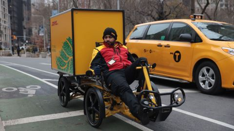 Freight companies will be allowed to use e-bikes to make deliveries in lower Manhattan.