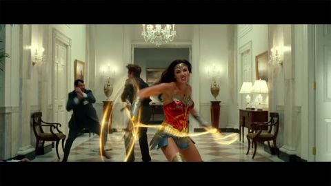"""Gal Gadot as Wonder Woman in an image taken from the first trailer of """"Wonder Woman 1984."""""""