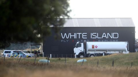 Emergency crews are seen at the Whakatane Airport on December 9.