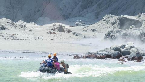Tour operators evacuate tourists from White Island.