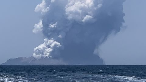 Jon Arrieta, who captured this photo of the ash cloud, told CNN he left White Island just one hour before the eruption.