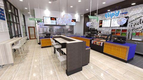 Flip'd by IHOP has limited seating, unlike traditional IHOP restaurants.