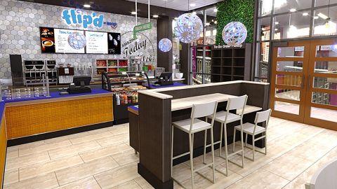 A rendering of a Flip'd by IHOP restaurant.