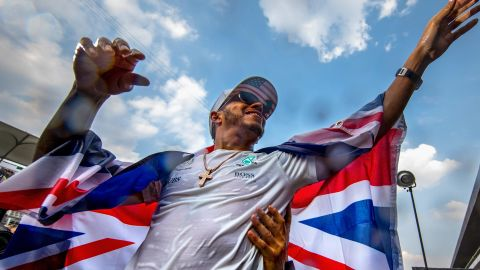 """Formula 1 world champion Lewis Hamilton is a  co-producer of """"The Game Changers"""" and is now an advocate for a plant-based diet."""