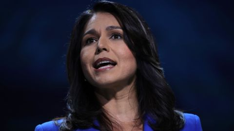 Democratic presidential cadidate U.S. Rep. Tulsi Gabbard (D-HI) speaks during the California Democrats 2019 State Convention at the Moscone Center on June 01, 2019 in San Francisco, California.