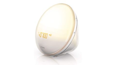 """<a href=""""https://amzn.to/2RXNljW"""" target=""""_blank"""" target=""""_blank""""><strong>Philips Wake-Up Light ($148.80; amazon.com) </strong></a><br />"""