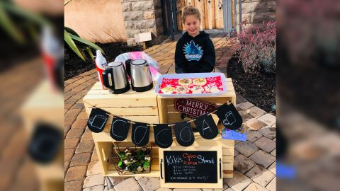 Katelynn Hardee, a 5-year-old kindergartner at Breeze Hill Elementary School, paid off the negative lunch balances of over 100 students at her school.