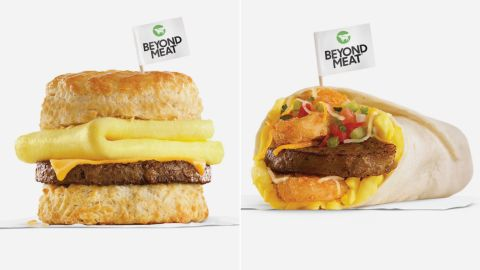 Carl's Jr. will sell Beyond Meat products at breakfast.