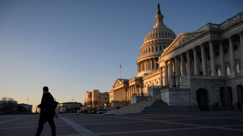 The US Capitol on Wednesday morning.