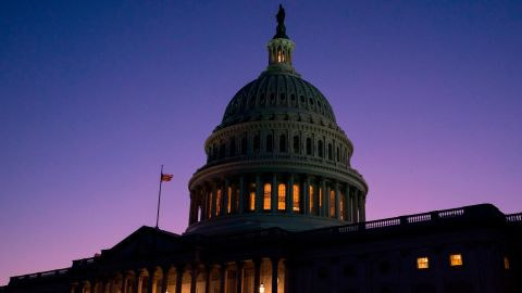 WASHINGTON, DC - DECEMBER 18: The US Capitol is seen at sunset as members of the House of Representatives debate charging President Donald Trump with two articles of impeachment including abuse of power and obstruction of Congress on December 18, 2019 in Washington, DC. (Photo by Sarah Silbiger/Getty Images)