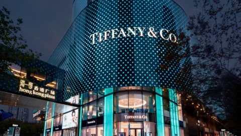 Tiffany's newly reopened flagship store in Shanghai. The outlet is now roughly double the size of its old property.