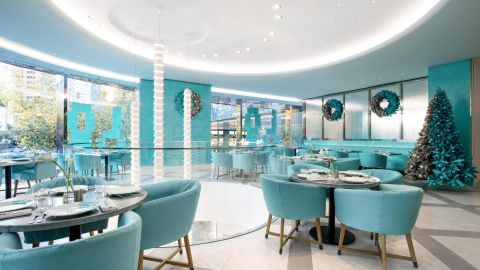 Tiffany's new Blue Box Cafe at its flagship store in Shanghai. The signature eatery will soon be open to anyone who wants to have breakfast, lunch or dinner at Tiffany's.
