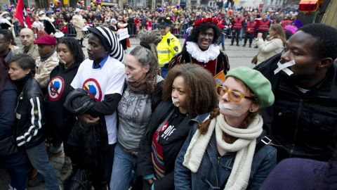 Many in Holland have started protesting against the 'Black Pete' character.