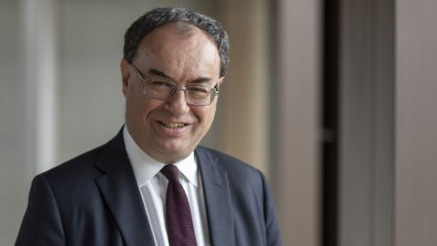 Andrew Bailey, chief executive officer of Financial Conduct Authority, poses for a photograph  in London, U.K., on Monday, Sept. 16, 2019.