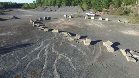 Local officials placed rocks to try to protect the fossils from fourwheelers.