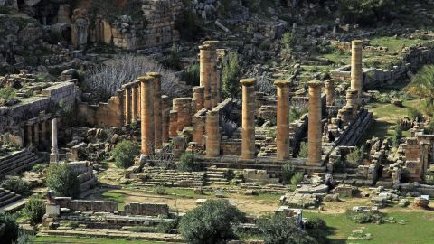 <strong>Shehhat, Lybia:</strong> The ancient Greek city of Cyrene was an outpost of Thira (also called Santorini) which was founded in 630 BC.