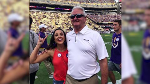 McCord with her father-in-law, Steve Ensminger.