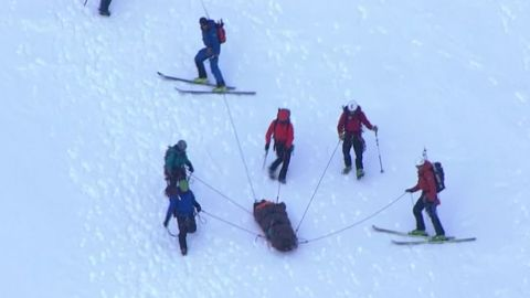 """Clackamas County Sheriff's Office Search and Rescue teams rescued a climber Monday who had fallen on Mount Hood. The climber was reported to be in stable condition and was brought down by rescuers to Timberline Lodge late Monday afternoon to a waiting ambulance. The climber, a 16-year-old, sustained a leg injury after falling approximately 500 feet. """"The climber fell from the Pearly Gates area of Mt. Hood (just below the final push to the summit) down to the Devil's Kitchen,"""" CCSO said in a statement. The call about the fallen and injured teen came in around 9 a.m., according to CCSO. Due to the elevation, the first rescuers didn't reach the injured climber until approximately 1 p.m. That is when they began administering treatment and put a splint on the injured leg. CCSO said Portland Mountain Rescue, Hood River Crag Rats and AMR assisted in the rescue."""