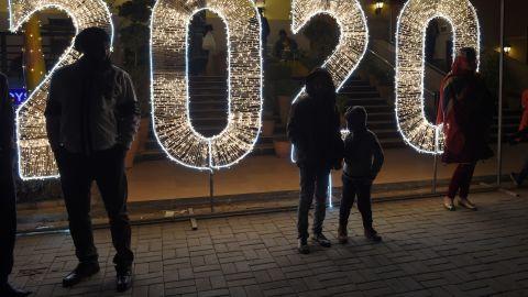 People celebrate the new year in Islamabad, Pakistan.