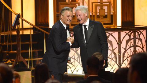 Clinton attends Alec Baldwin's celebrity roast in June 2017.
