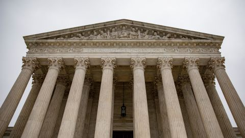 An overcast sky hangs above the U.S. Supreme Court on December 16, 2019 in Washington, DC.