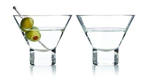 Viski Stemless Martini Glasses, Set of 2