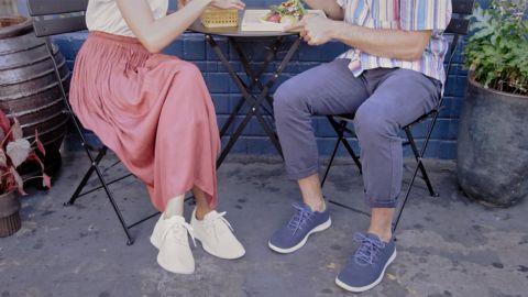 Wearing Allbirds Sockless