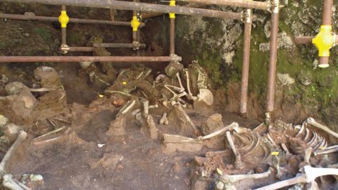 Remains found in ancient Herculaneum boat houses revealed that people trying to flee the eruption of Mount Vesuvius slowly suffocated as volcanic clouds overtook the town.