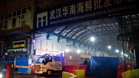 The Huanan Seafood Wholesale Market in the city of Wuhan was shut down in early January following an outbreak of coronavirus cases.