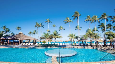 Get four nights for the cost of three when you have the IHG Premier card and redeem points at properties like the Holiday Inn Resort Aruba-Beach.