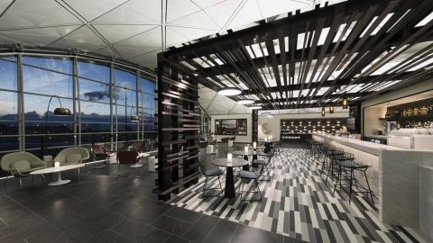 The American Express Centurion lounge in Hong Kong.